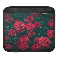 Red Roses with a Black Background Photography iPad Sleeve