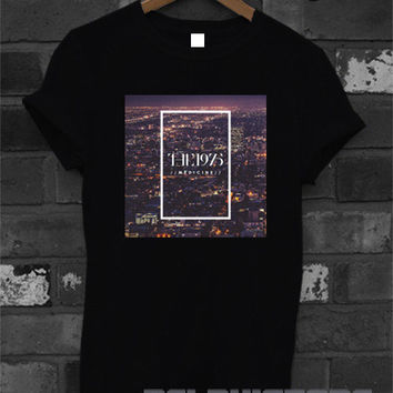 the 1975 shirt the 1975 band medicine logo tee tshirt t-shirt printed black and white unisex size (DL-95)