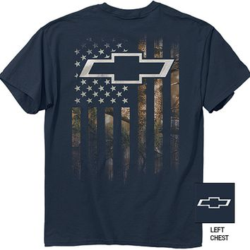 Chevrolet Camo Flag T-Shirt-Chevy Mall