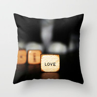 love Throw Pillow by ingz | Society6