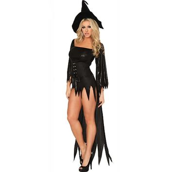 High Quality Sexy Witch Costume Deluxe Adult Womens Magic Moment Costume Hot Sale Adult Witch Halloween Fancy Dress W847044
