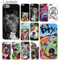 Lavaza Pitbull dog Hard Phone Cover Case for Apple iPhone 10 X 8 7 6 6s Plus 5 5S SE 5C 4 4S Coque Shell