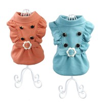 New Chicdog Pet Costume Dog Clothes Autumn Winter Clothing Wedding Coat for dogs Cat Puppy Cloth teddy yorkshire Free Shipping