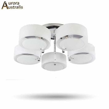 New Modern LED Aluminum Chandeliers Ceiling E27 Bulbs AC85-265v With 1-5 Lights Knob Switch Lamps Fixtures For Home Lighting