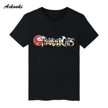 2018 Hot THUNDERCATS EMBLEM T-shirt Men/women High Quality Cotton Short Sleeve Men's T-shirt Harajuku Funny Top Clothes