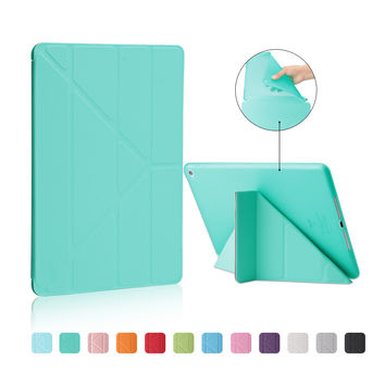 For Apple Ipad Air 2 Case Pu+Tpu Cover Ultra Thin Smart Wake Up Sleep 9.7 inch For Ipad 6 Soft Full Protect Stand Case+Stylus