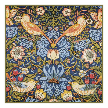 The Strawberry Thief design by William Morris Counted Cross Stitch or Counted Needlepoint Pattern