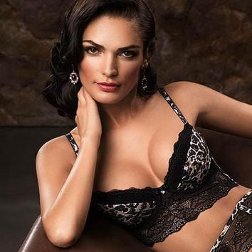Animal Print Longline Push-up Bra Lauma Lingerie Wild Passion