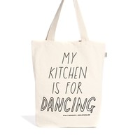 Talented Totes Sally Beerworth My Kitchen is for Dancing Tote Bag
