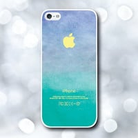 iPhone 5 Case, iPhone 5S Case - Aqua Emerald Ombre / iPhone 5S Case, iPhone 5S Cover, Cover for iPhone 5S, Case for iPhone 5S