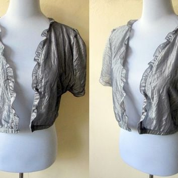 Autumn / Fall Sale: pewter gray shrug (free size; plus size)