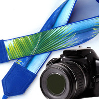 Blue camera strap. DSLR Camera Strap. Sea Camera Strap. Beach camera strap. Camera accessories. Photographer gift.