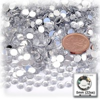 144pc Rhinestones Round 5mm - 21ss flatback Crystal Clear CLR