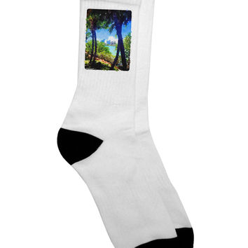 Tropical Skyline Adult Crew Socks