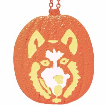 Siberian Husky Pumpkin Necklace Pendants Dog Lover Halloween Charms Memorial Gift Jewelry Necklace Women Choker Lead Free