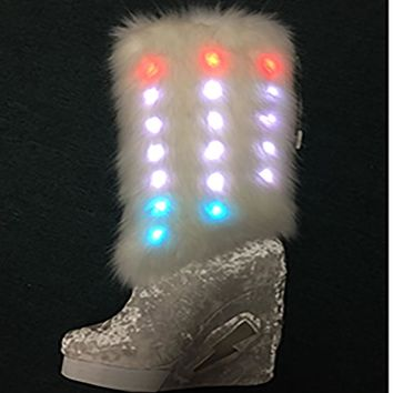 Knee High Light Up Festival Boot-Rave Shoes And Boots