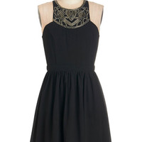 ModCloth LBD Short Length Sleeveless A-line Dramaturge Debut Dress