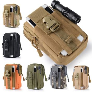 Outdoor Tactical Holster Camping Climbing Bag Military Hip Waist Belt Wallet Pouch Purse Phone Case for iPhone Samsung S7