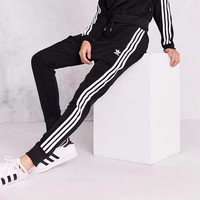 ADIDAS Woman Men Winter Plus Cashmere Casual Warm Velvet Thick Pants Trousers