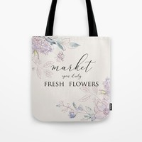 fresh flower market Tote Bag by sylviacookphotography