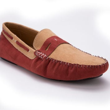 Men's Suede Two Tone Loafer By Montique S-59
