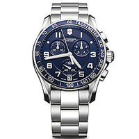 Victorinox Swiss Army Classic Chronograph Watch - Silver