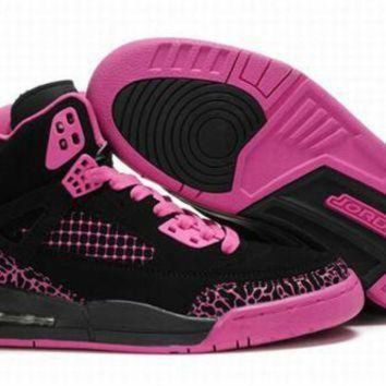 Hot Air Jordan 3.5 Spizike Retro Women Shoes Black Red