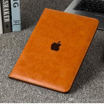 Litchi Pattern Flip Leather Smart Case Cover for iPad air1/air2 With Stand Holder Folding Folio for ipad Mini 1 2 3 4 9.7 inch iPad Pr