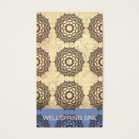 Repeated Mandala Pattern Earthy Colors Business Card