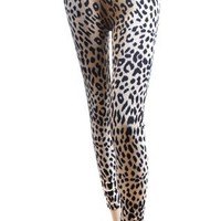 'Sexy Legs' Khaki Cheetah Print Fashion Leggings