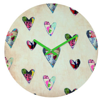 Natalie Baca Queen Of Hearts Round Clock
