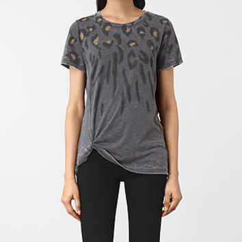 ALLSAINTS US: Womens Lao Mellon Tee (COAL GREY)