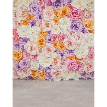 Customize Vinyl Photography Backdrop Computer Printed Flowers Wall Party Wedding Photo Studio Background for Baby Newborn