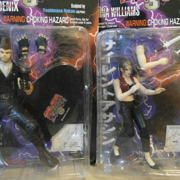 Epoch 1/10 Namco's Tekken 3 Nina Williams & Paul Phoenix 2 Action Collection Figure Set