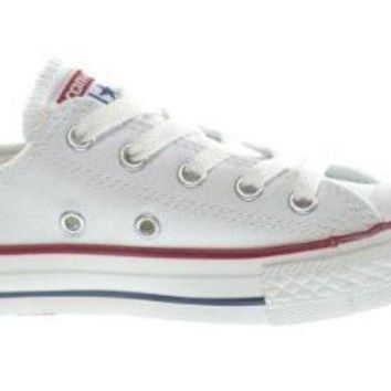 CREYUG7 Converse C/T All Star OX Little Kids Fashion Sneakers White