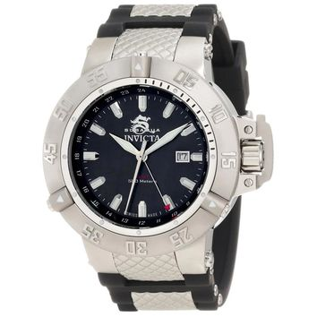 Invicta 1151 Men's Subaqua Noma III Black MOP Dial Rubber Strap GMT Dive Watch