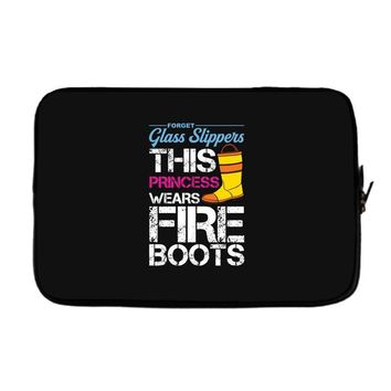Forget Glass Slippers This Princess Wears Fire Boots Laptop sleeve