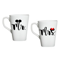 Mr And Mrs Mickey Coffee Mugs, His And Her Mugs, Disney Coffee Mug, Mr And Mrs Micky and Minnie,