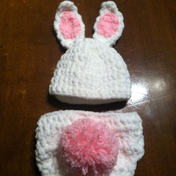 Bunny Diaper Cover Set/Easter/Photo Prop