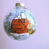 The Peanuts Charlie Brown and Snoopy Inspired Christmas Ornament