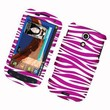 Eagle Cell PISAMEPIC4GR129 Stylish Hard Snap-On Protective Case for Samsung Galaxy S2/Epic 4G Touch/D710 - Retail Packaging - Zebra Pink/White