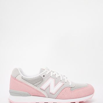 New Balance 996 Pastel Grey/Pink Suede Trainers