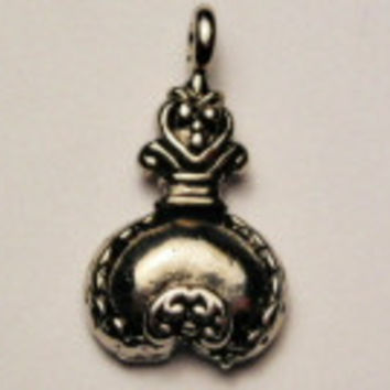 Victorian Style Perfume Genuine American Pewter Charm