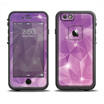 The Vector Shiny Pink Crystal Pattern Apple iPhone 6 LifeProof Fre Case Skin Set