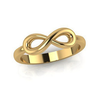 Infinity ring Wedding band, Forever and Always, 18K gold