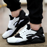 Custom Black & White Huarache Run