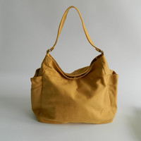 SALE - Renee in Mustard // Tote bag / shoulder bag / Diaper bag / Handbag / - Hobo/ Purse / Gift for her / women