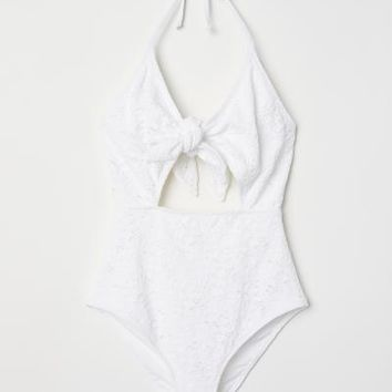 Cut-out Swimsuit - White - Ladies | H&M US