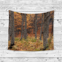 """""""Falling Love"""" Forest Gypsy Wall Tapestry"""
