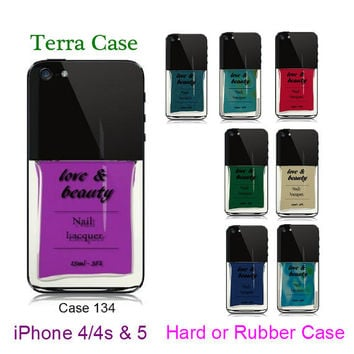 Nail Polish iPhone Case - Rubber iphone 5, iPhone 4 - iPhone 4s       iPhone cover, iPhone hard case- Rubber Case